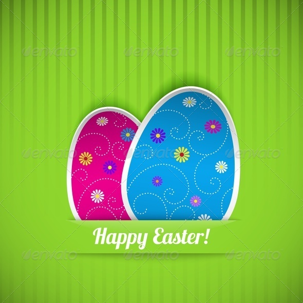 GraphicRiver Easter Card with Two Eggs 4175418