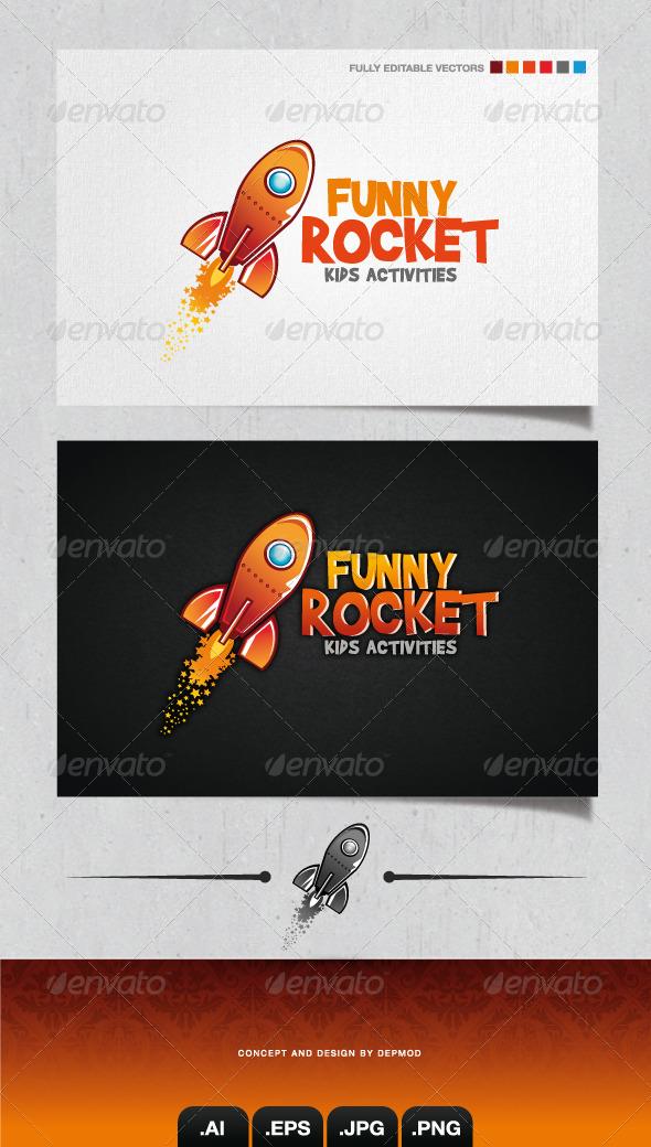 GraphicRiver Funny Rocket Logo 4096231