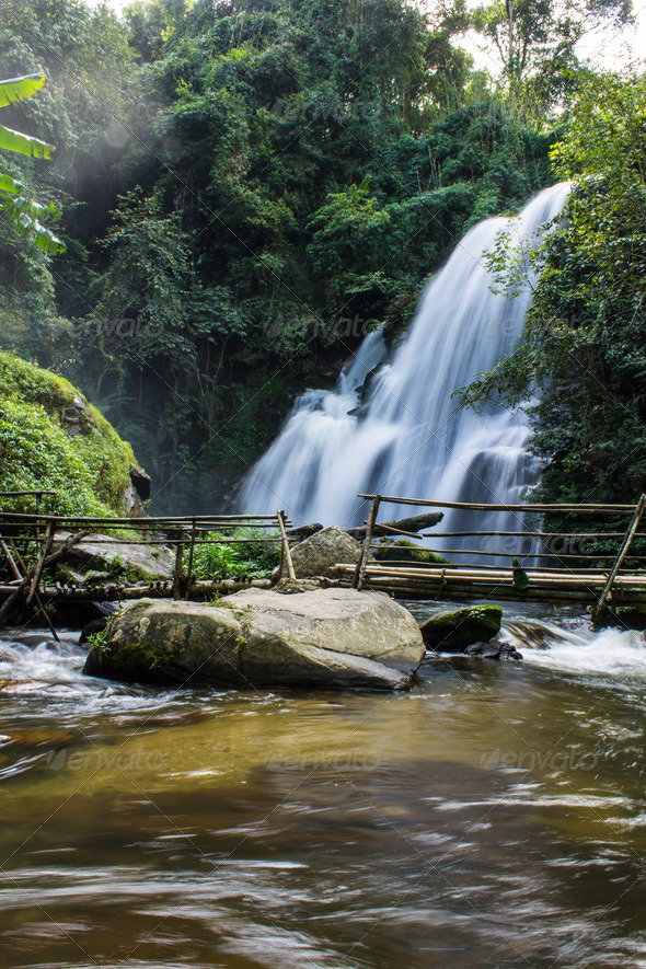 PhotoDune A beautiful waterfall in northern Thailand 4175615