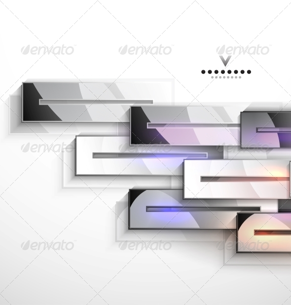 3D Vector Geometrical Design Metal Stripes