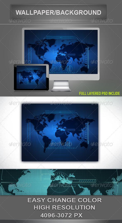 GraphicRiver Hi- Tech Background 4175791