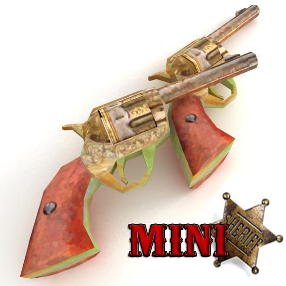 3DOcean Low Poly Western Pistol 4176213
