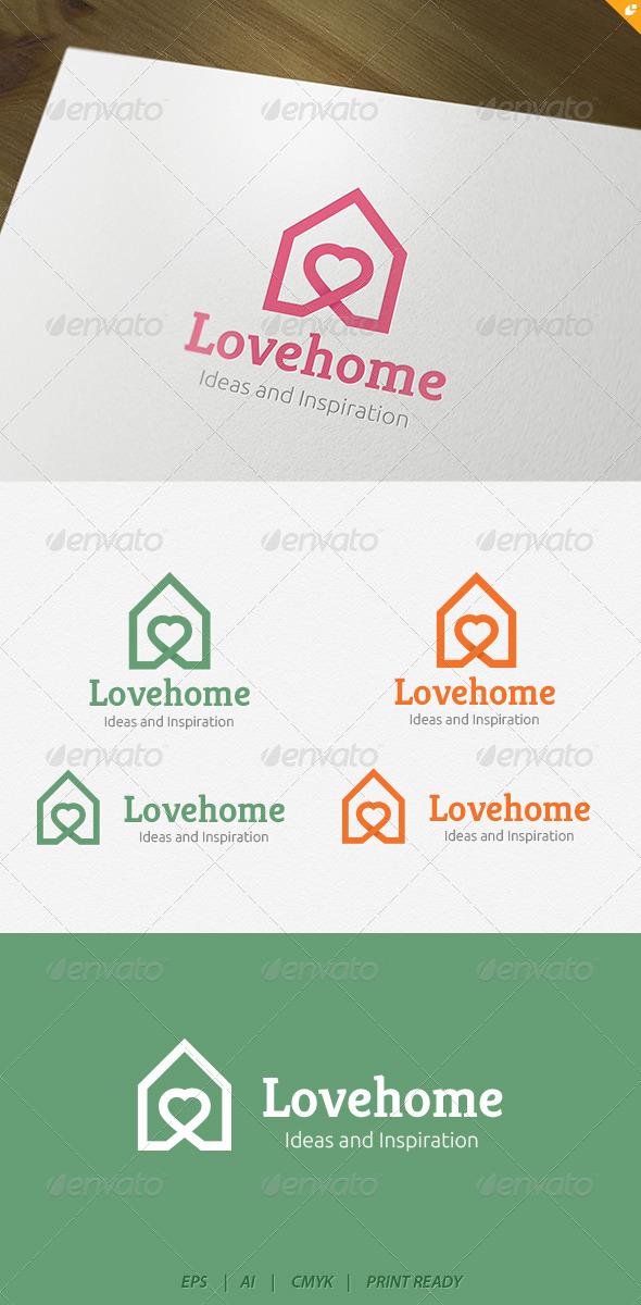GraphicRiver Love house Logo 4176331