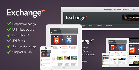 Exchange - HTML5 & CSS3 Corporate Drupal Theme
