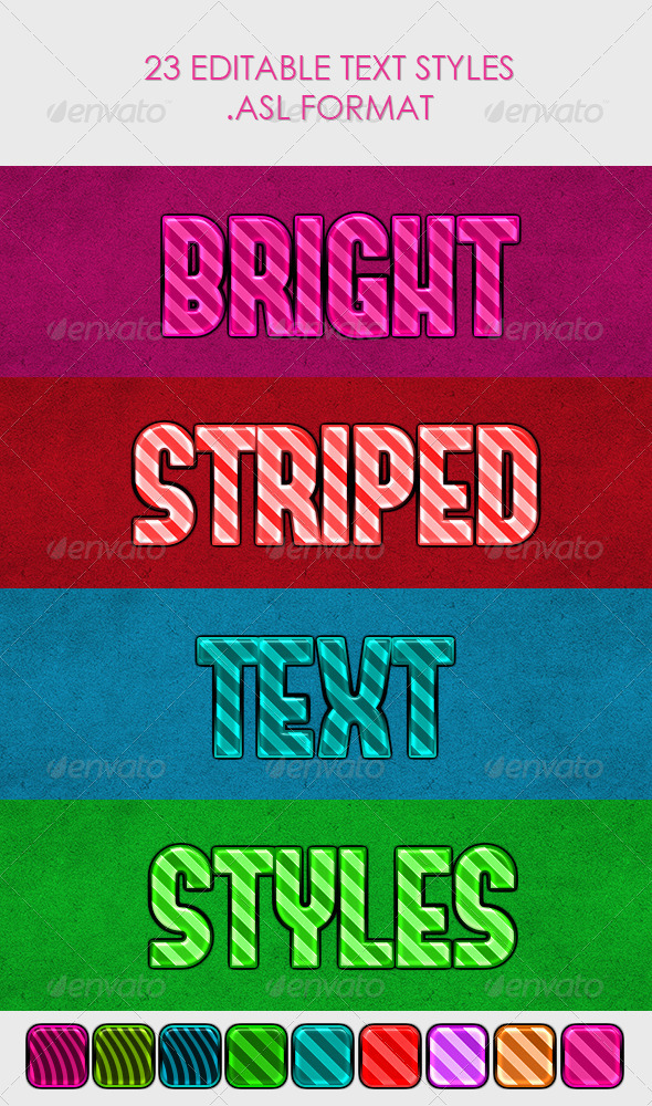 GraphicRiver Bright Striped Text Styles 4177057