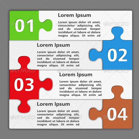 GraphicRiver Design Template with Puzzle Pieces 4177256