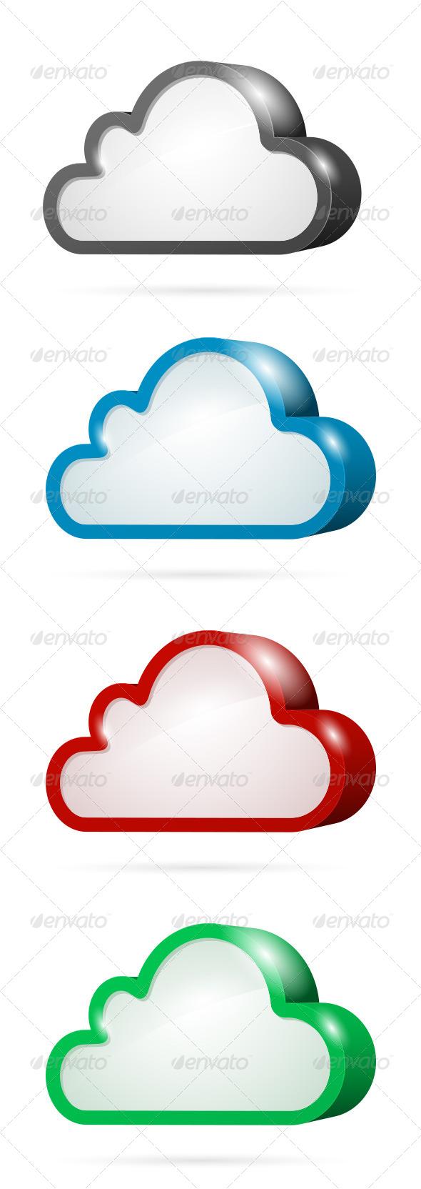 GraphicRiver Cloud Computing Symbol Set 4177303