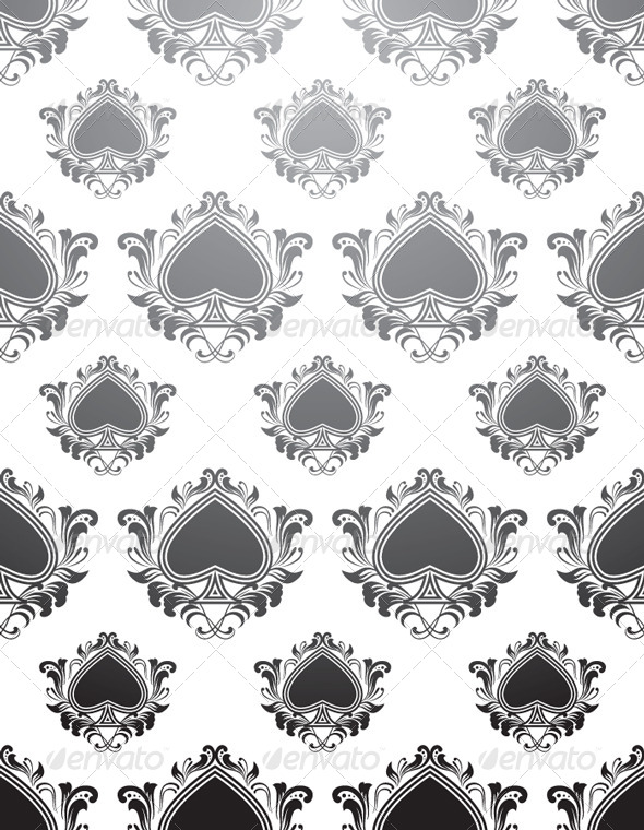 Black Spades Pattern - Patterns Decorative