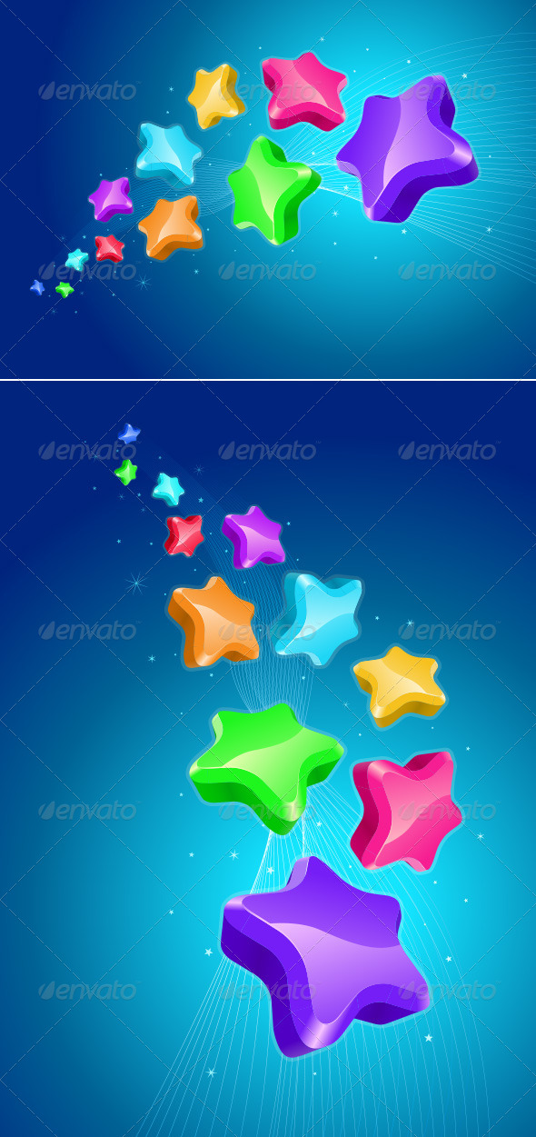 GraphicRiver Colorful Stars 4177334