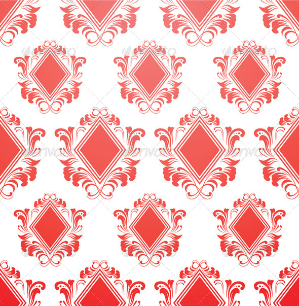 Red Diamond Pattern - Patterns Decorative