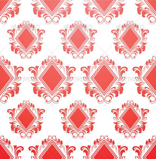 GraphicRiver Red Diamond Pattern 4177460