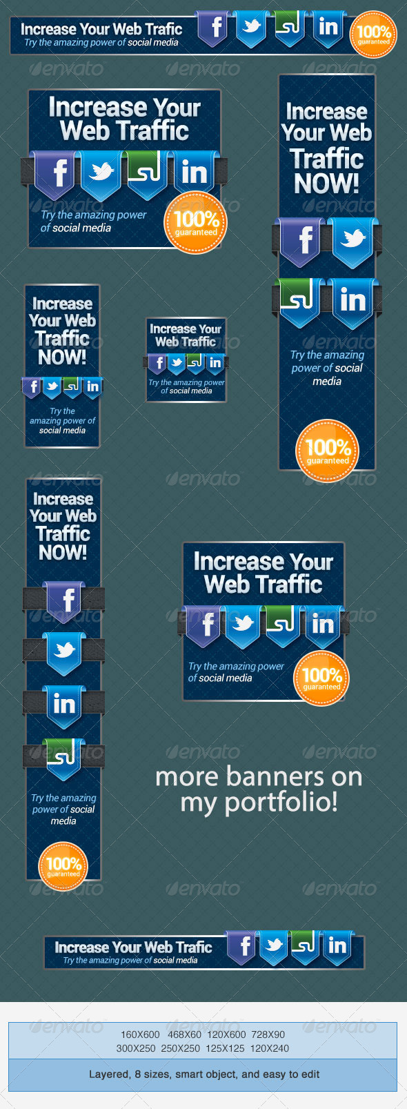 GraphicRiver Social Media Web Banners Set 4177482
