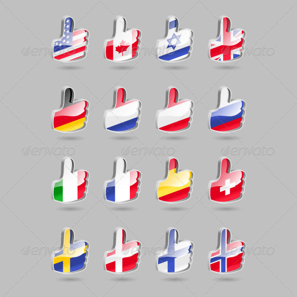 GraphicRiver Thumbs Up Flags 4177559