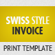Swiss Style Invoice - GraphicRiver Item for Sale