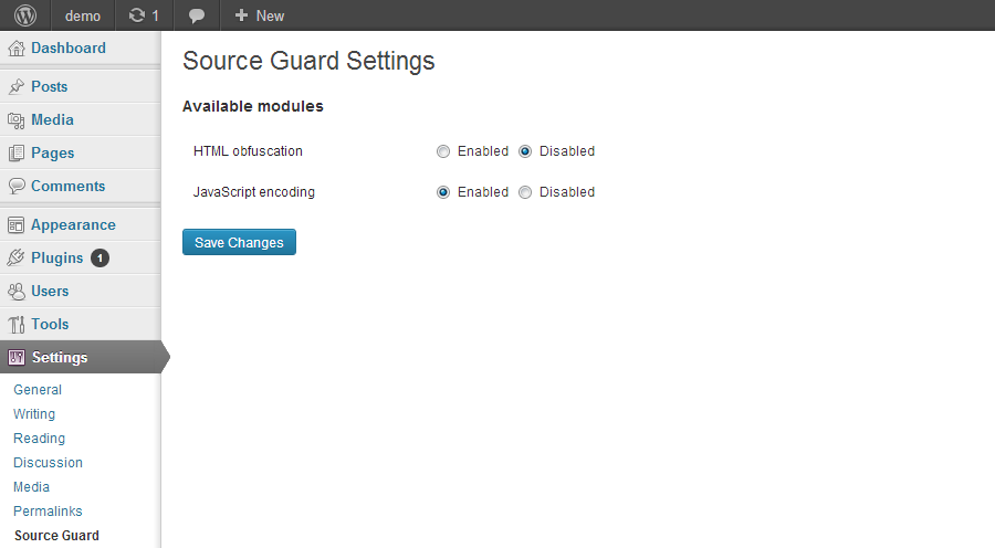Source Guard for WP - Source Encoder/Encryptor
