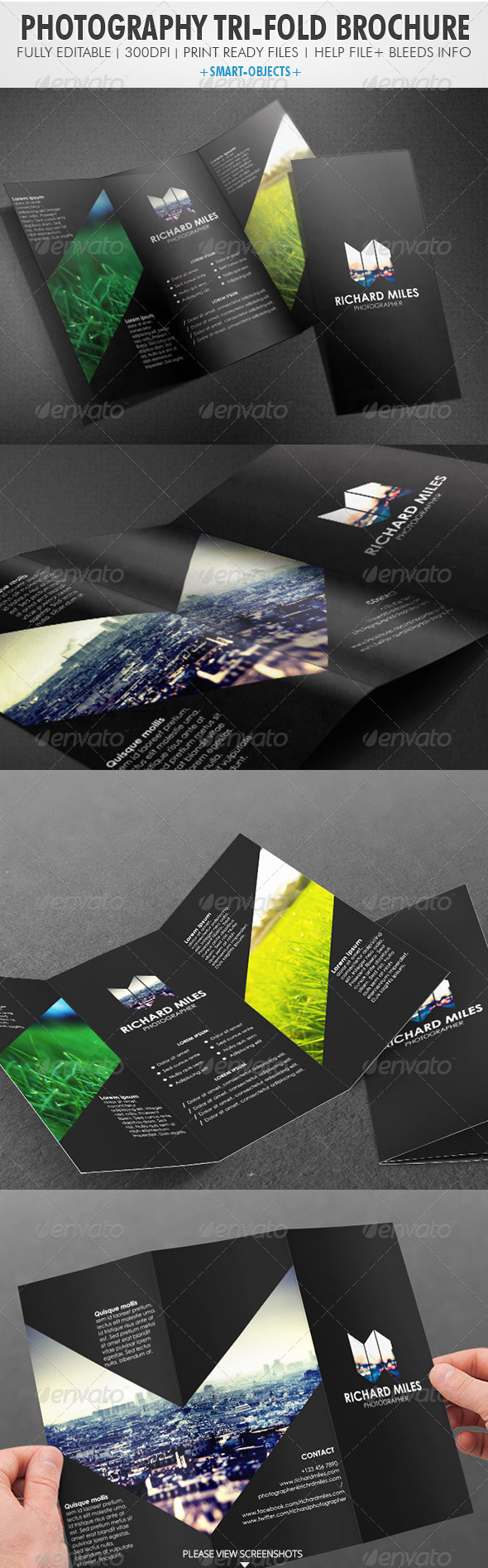 GraphicRiver Photography Tri-fold Brochure 4027623