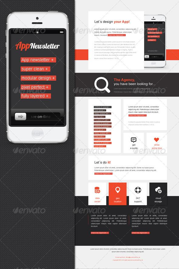 App eNewsletter Template - E-newsletters Web Elements