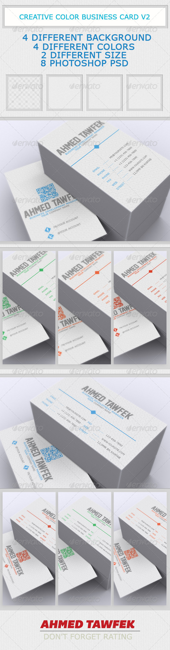 GraphicRiver Creative Color Business Card V2 4180455
