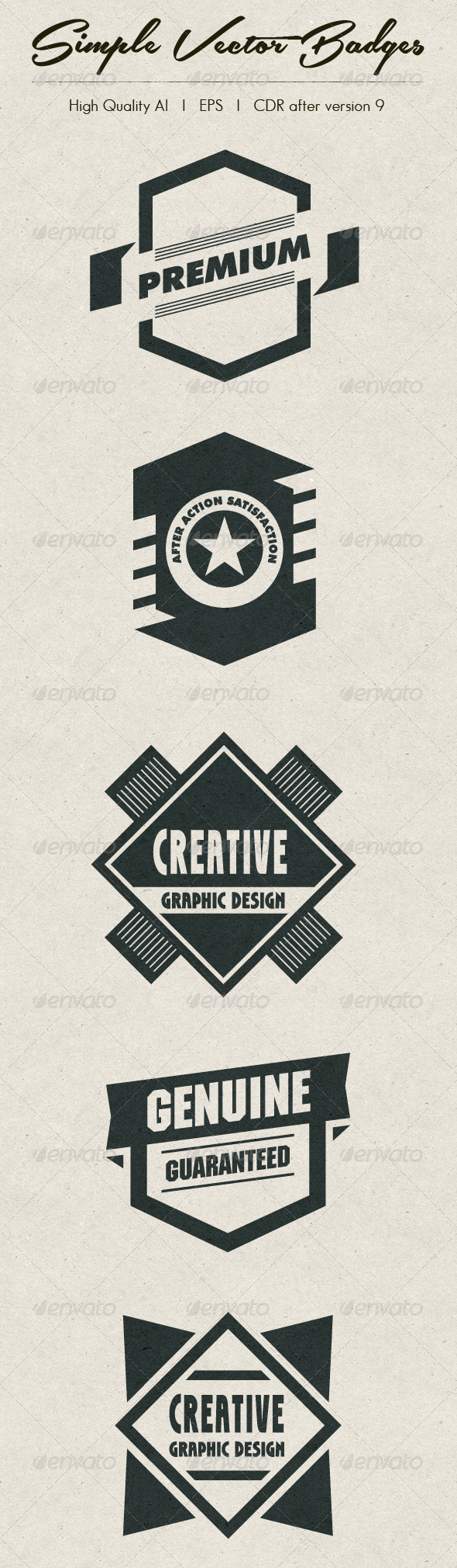 GraphicRiver Simple Vector Badges 4180648