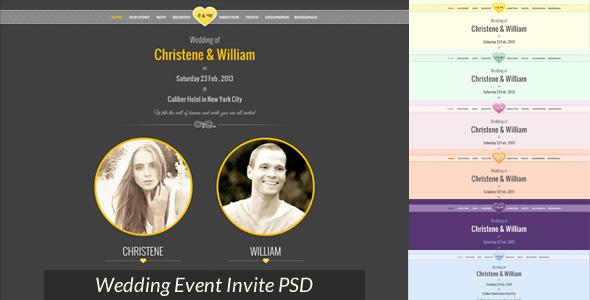 Wedding Event Invite PSD