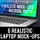 6 Realistic Laptop Mock-Ups - GraphicRiver Item for Sale