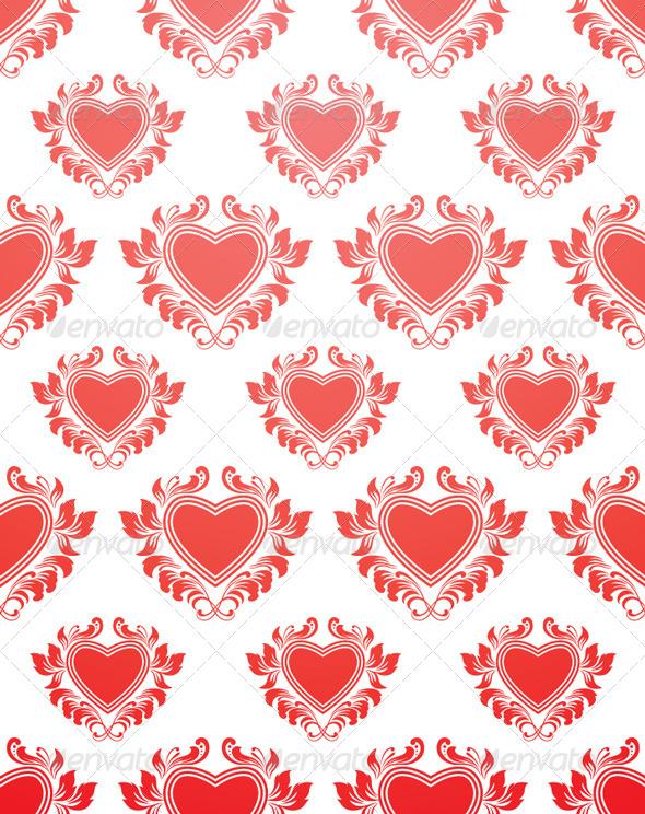 Red Heart Pattern