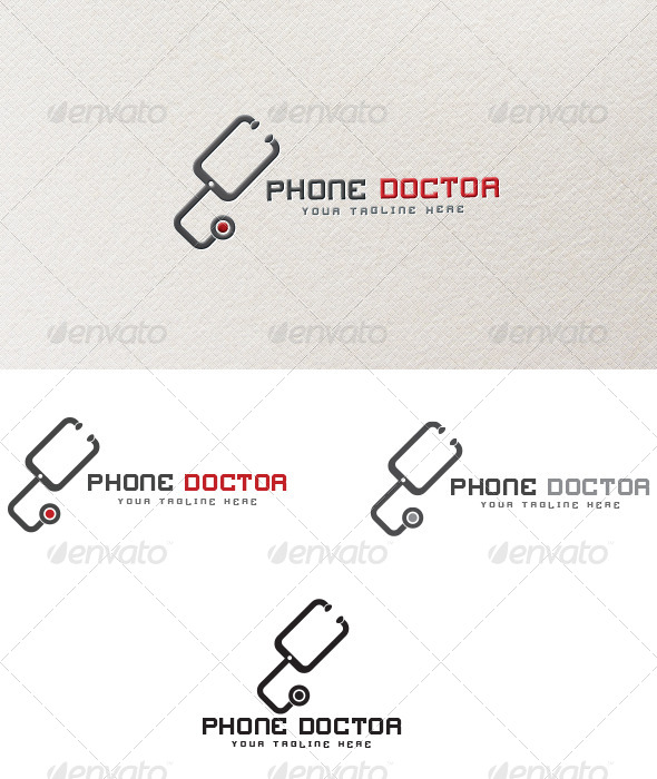 GraphicRiver Phone Doctor Logo Template 4181994