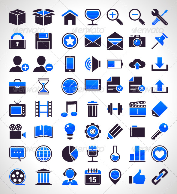 GraphicRiver Set of 56 Simple Universal Icons 4182241