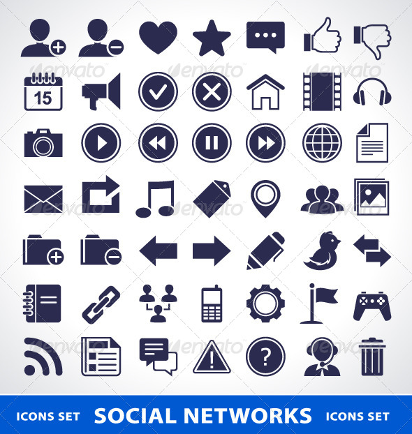 GraphicRiver Social Network Icons 4182260