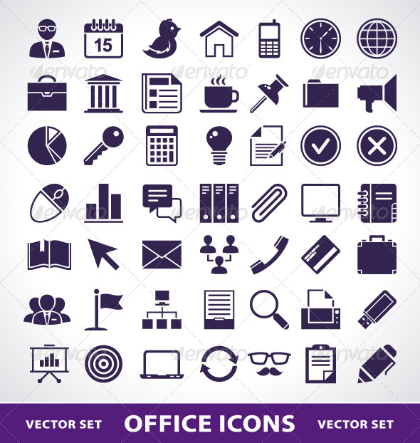 GraphicRiver Simple Office Life Icons 4182268