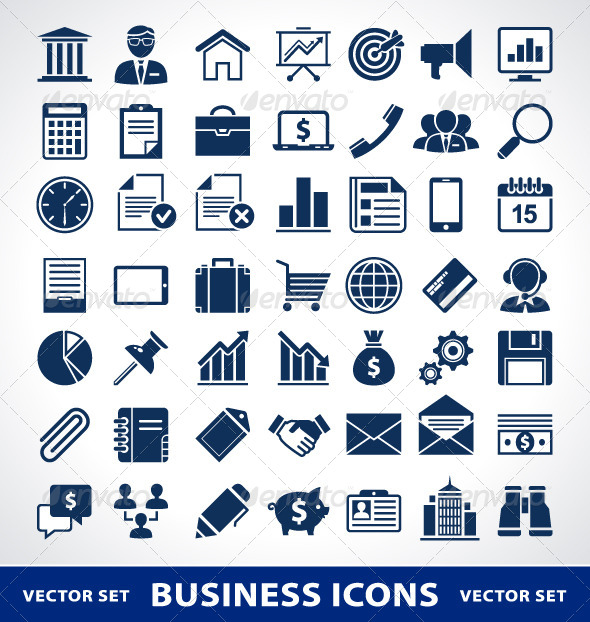 GraphicRiver Simple Business Icons 4182283