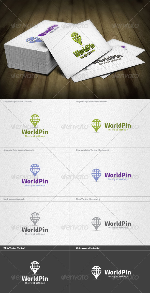 GraphicRiver World Pin Logo 4182366
