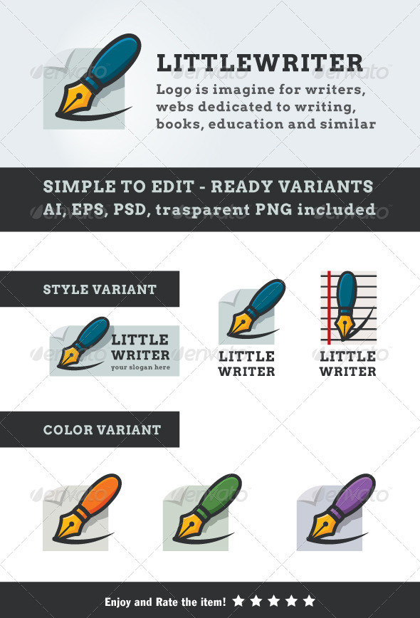 GraphicRiver Little Writer 4083839