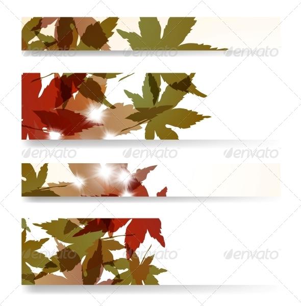 GraphicRiver Autumn Banner Set 4182376