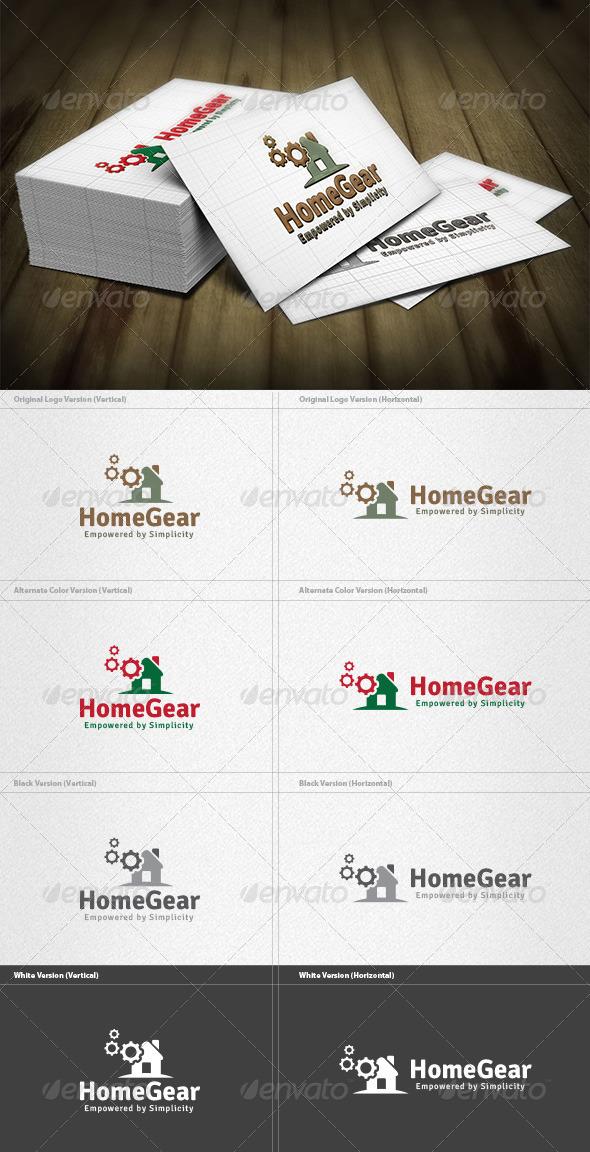 GraphicRiver Home Gear Logo 4182397
