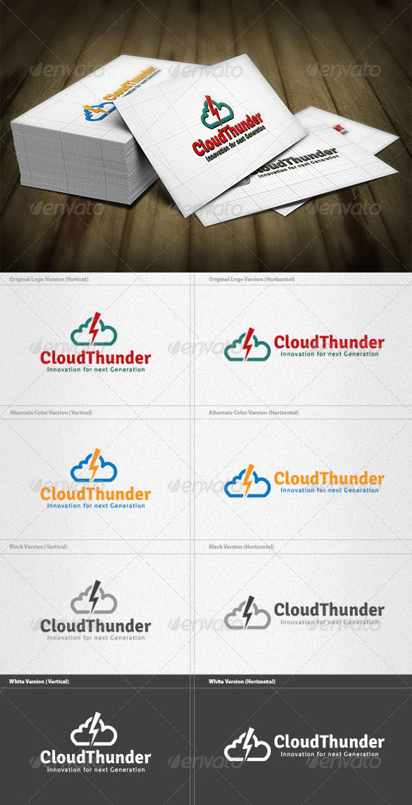 GraphicRiver Cloud Thunder Logo 4182444