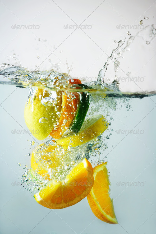 Lime, orange and lemon splash