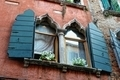Wall with window. Medieval house in Venice. - PhotoDune Item for Sale