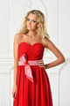 beautiful  blonde  woman in red dress. - PhotoDune Item for Sale