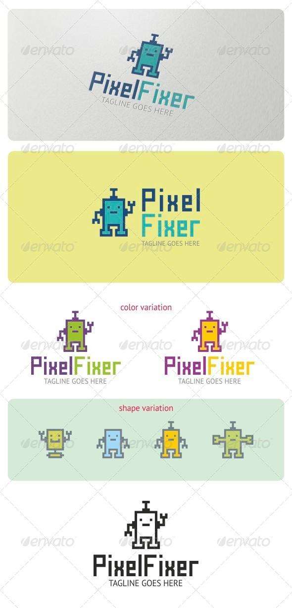 Pixel Fixer Logo Template