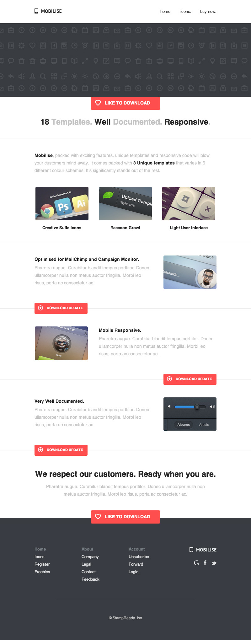 Mobilise - Responsive E-mail Template