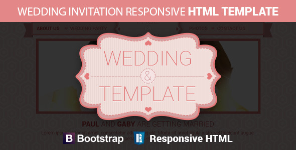Wedding Invitation Responsive HTML Template