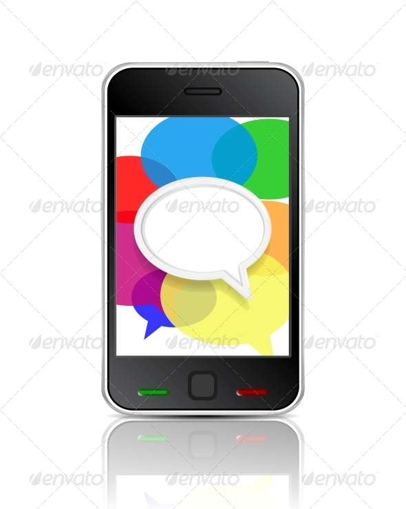 GraphicRiver Smart Phone Message Icon 4183764