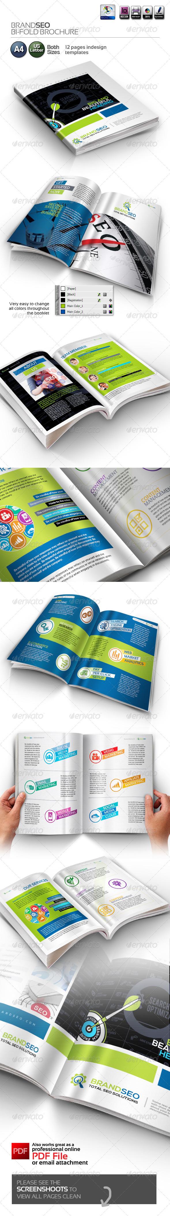 GraphicRiver BrandSEO Bi-fold Creative Brochure 4183802