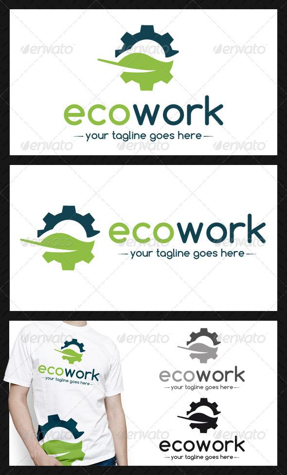 GraphicRiver Eco Works Logo Template 4183803