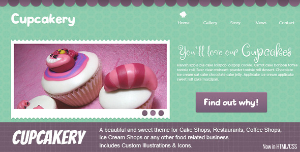 Cupcakery HTML - Food Retail
