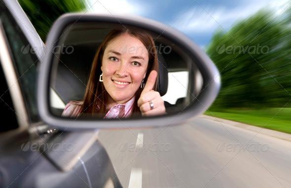PhotoDune woman driving a car 452459