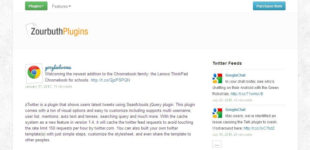 Jet Tweet - Twitter Feed For WordPress - Showing zTwitter with multiple widget in the same or different sidebar, and can be used with more than one user in one widget.