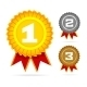 Download Vector Gold, Silver and Bronze Awards.
