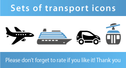 Sets of transport icons